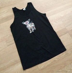 American Apparel Chihuahua muscle T